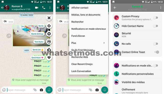 WhatsApp Aero chats